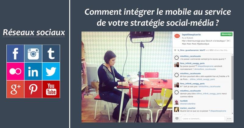 Mobile et strategie social-media