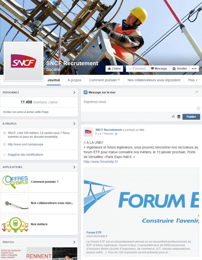 SNCF recrutement