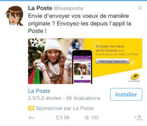 La Poste tweet
