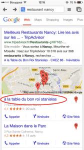 Recherche Google resto