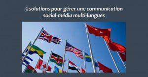 Multilangues reseaux sociaux