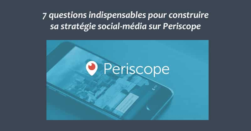 Strategie social-media Periscope