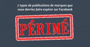 Expiration de statuts Facebook