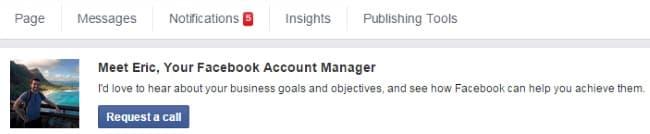 Conseiller commercial Facebook