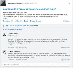 Interactions Discussions LinkedIn