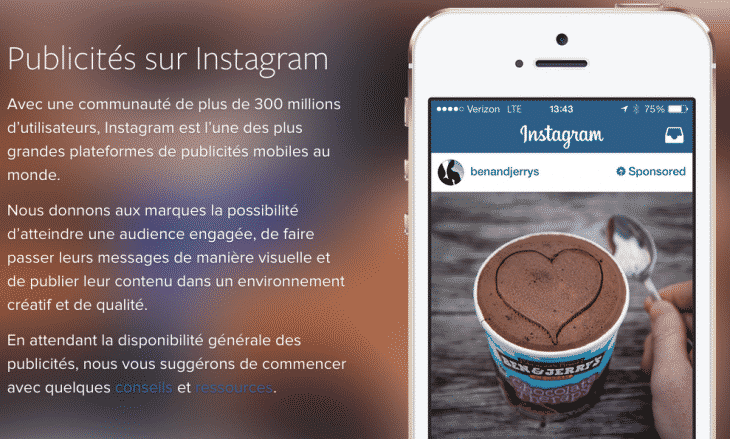 Module publicitaire Instagram