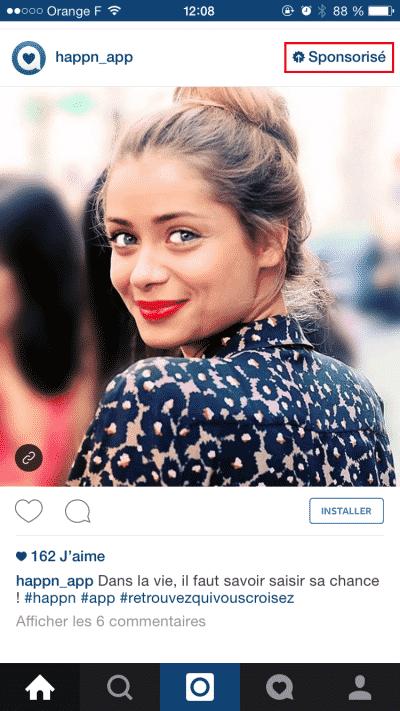 Publicite sur Instagram