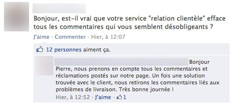 Suppression de commentaires