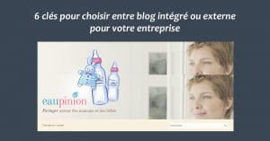 Blog integre ou externe