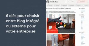 Blogs Integres ou Externes