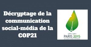 COP21 sur les reseaux sociaux