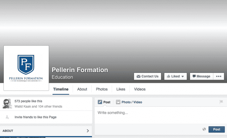 Nouveau design pages Facebook
