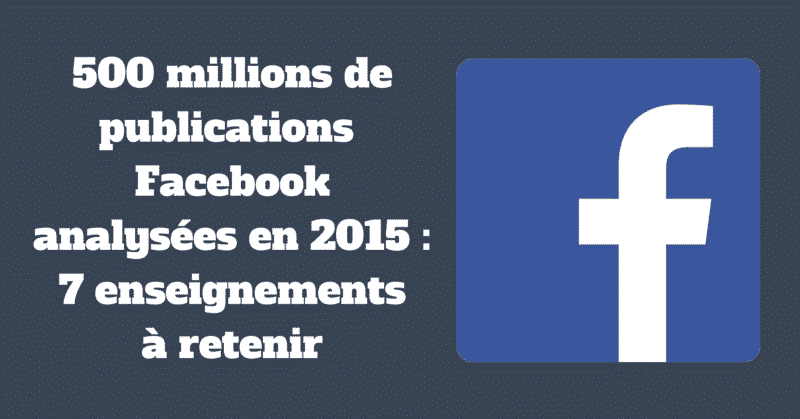 500 millions de publications Facebook