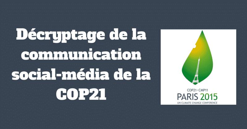COP21 Reseaux Sociaux