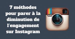 Engagement sur Instagram