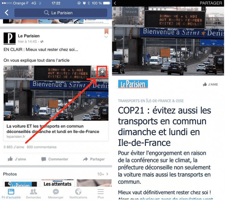 Instant Articles Parisien