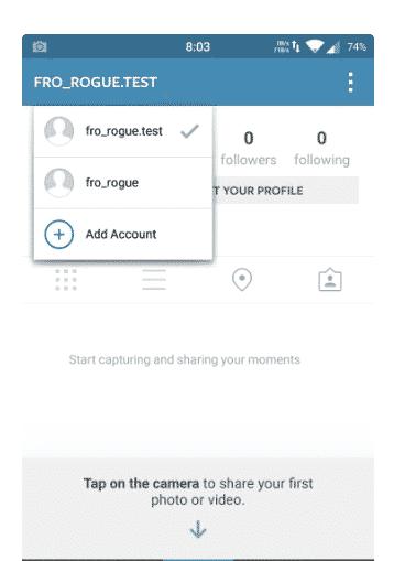 Multi-Comptes Instagram