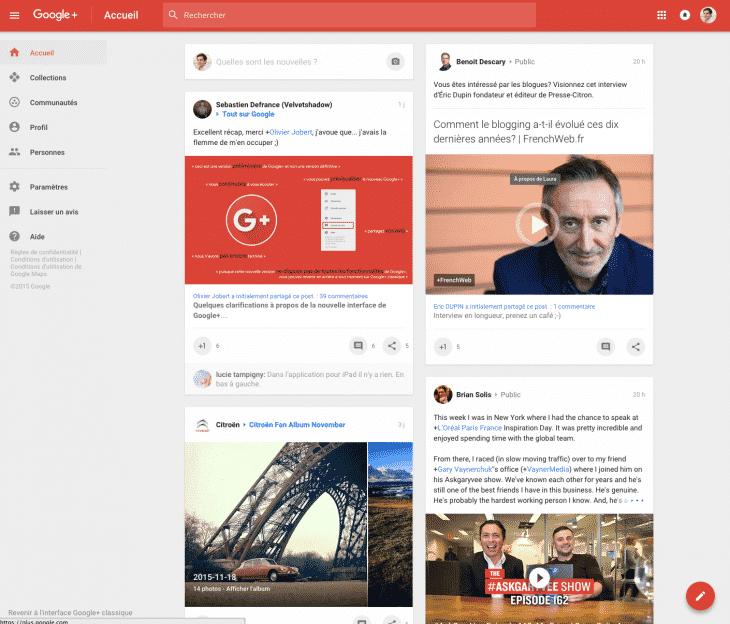 Nouveau Design GooglePlus
