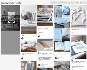 Recherche visuelle Pinterest