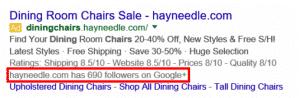 Followers Google Adwords
