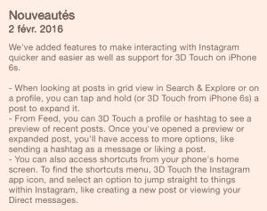 Instagram Touch 3D