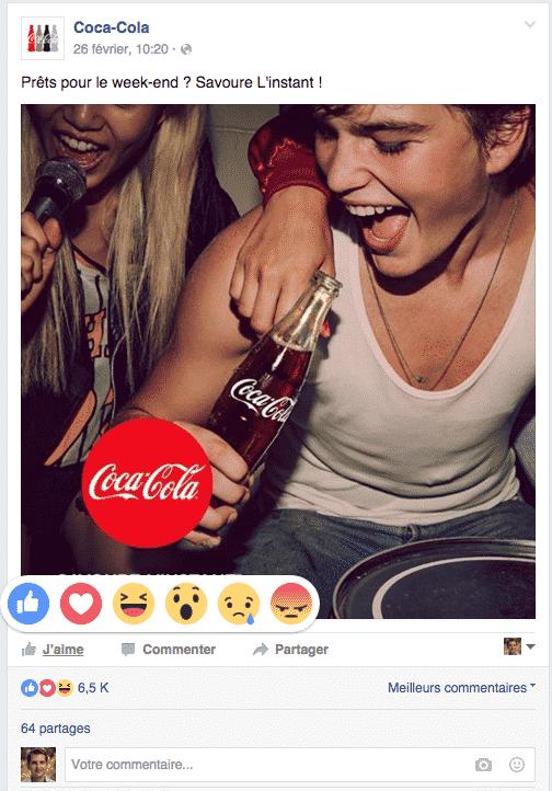 Reactions Facebook