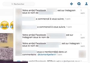 Notifications Instagram