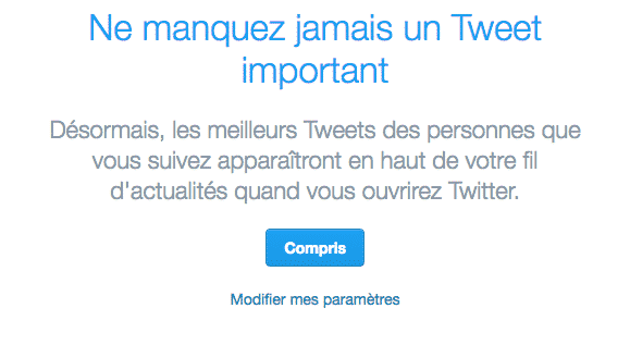 Tweets Algorithme