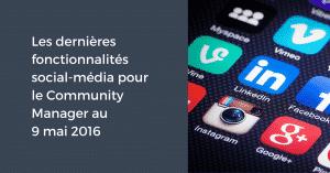 Fonctionnalites 16 mai 2016