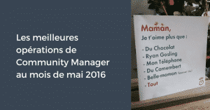 Meilleures Operations Mai 2016