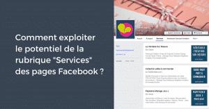 Services sur les pages Facebook