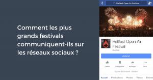 Festivals sur les reseaux sociaux