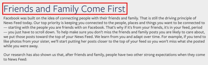 Newsfeed Values Facebook