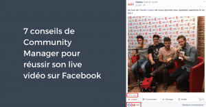 Conseils de Community Manager Facebook Live Video