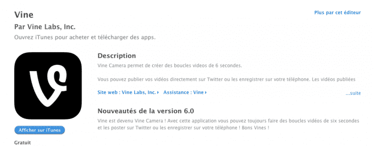 Vine App Store