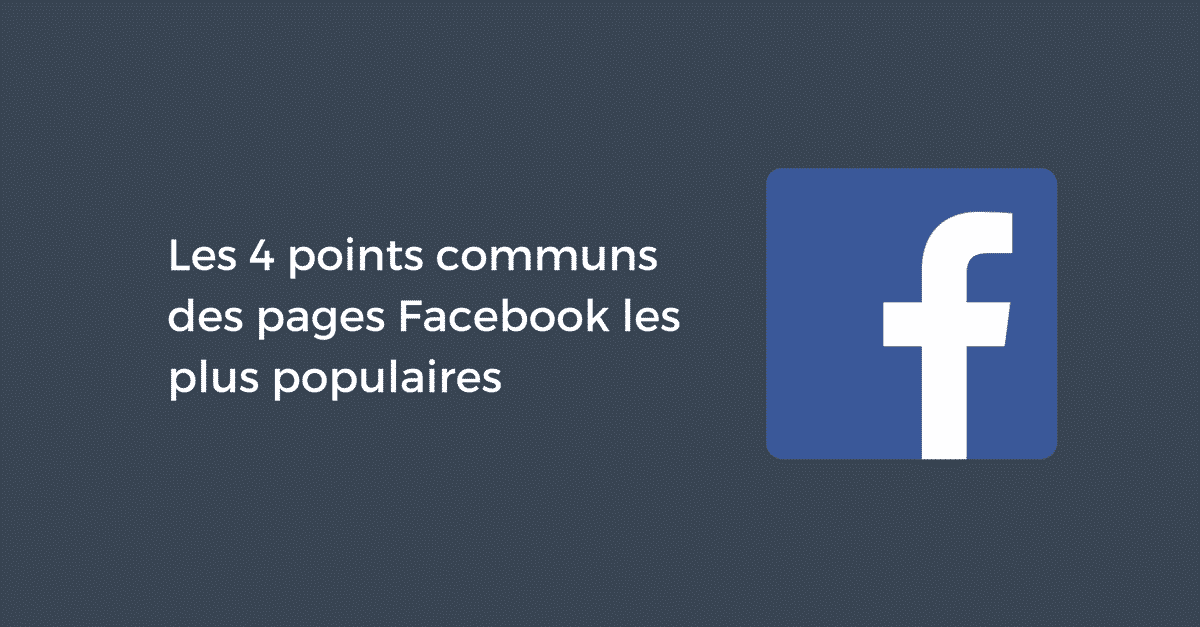 Pages populaires Facebook