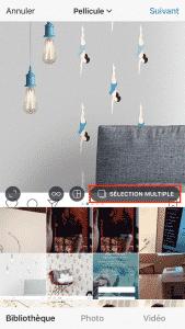 Selection Multiple Instagram