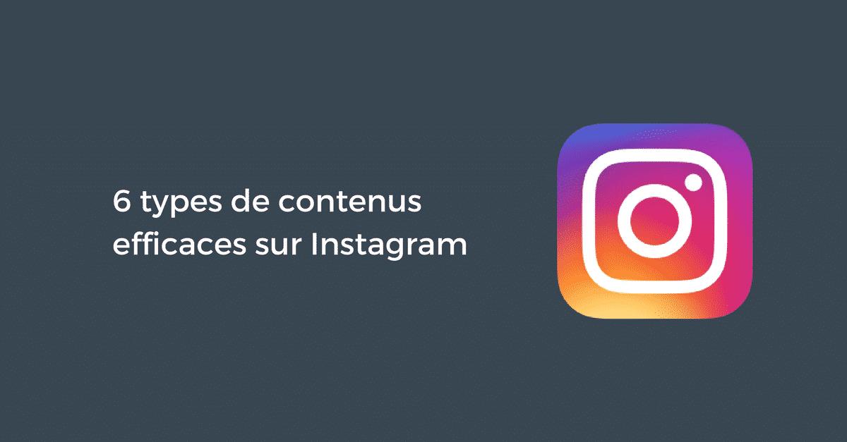 Contenus Efficaces Instagram