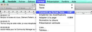 Format Texte MacOs