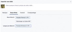 Sous titres langues Facebook