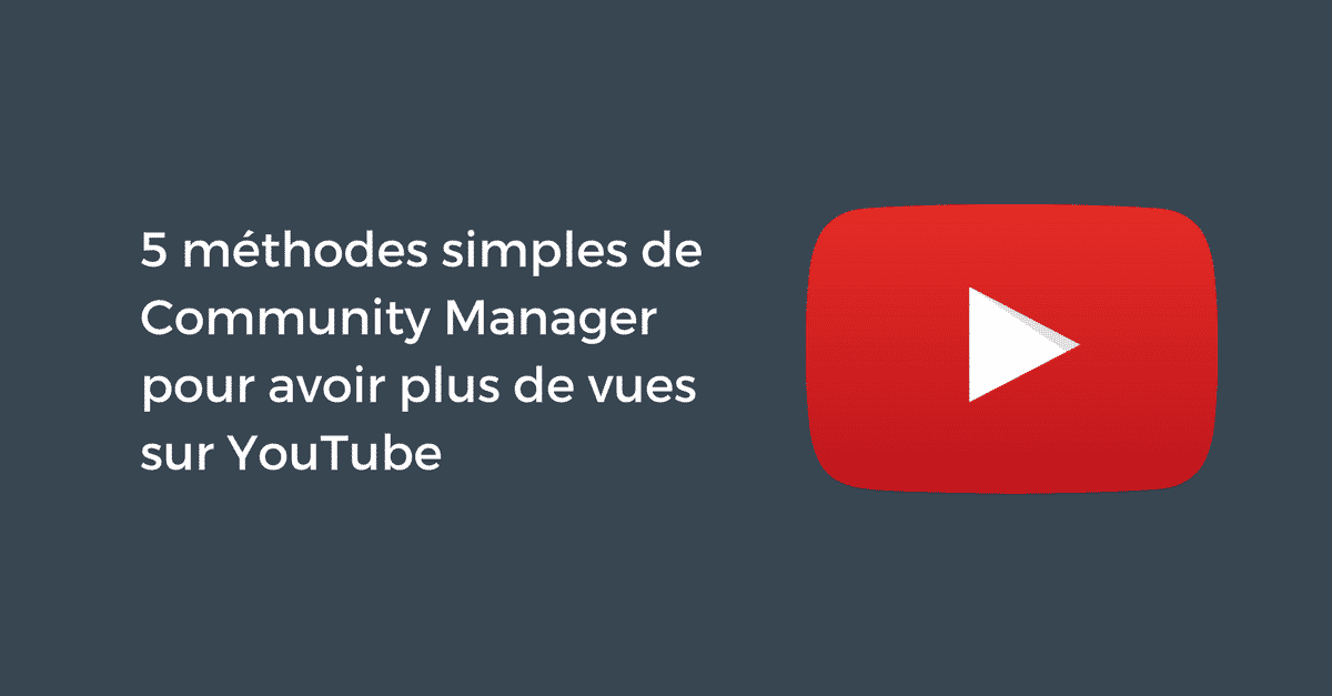 Vues Youtube Community Manager