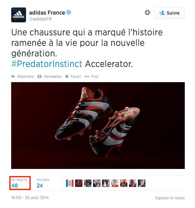 Adidas retweets