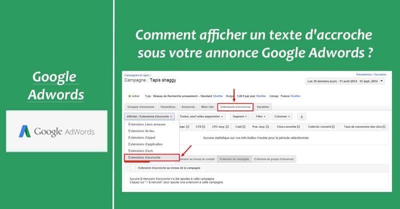 Accroche Google Adwords