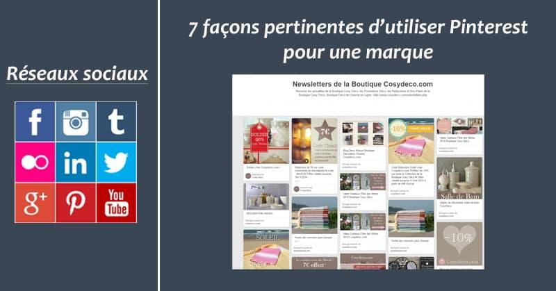 7 manieres Pinterest