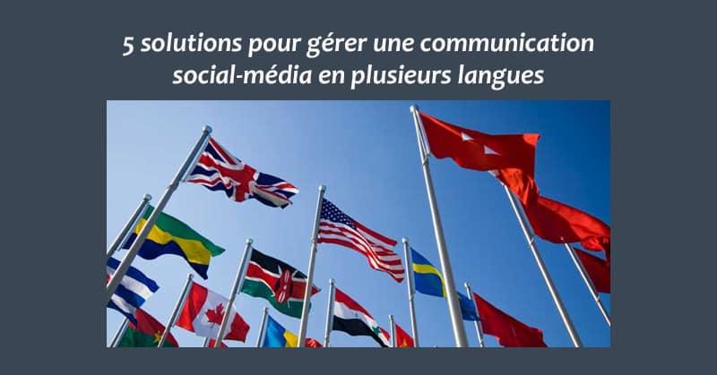 Plusieurs langues reseaux sociaux