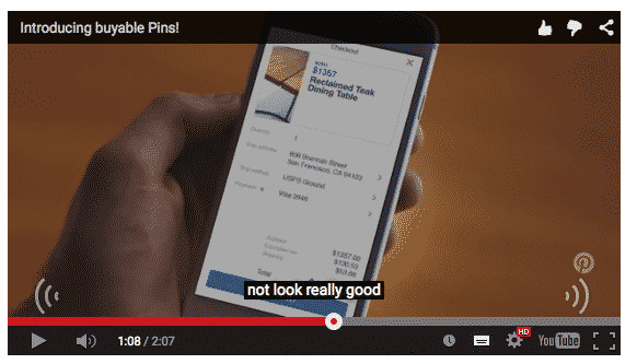 Bouton buy Pinterest