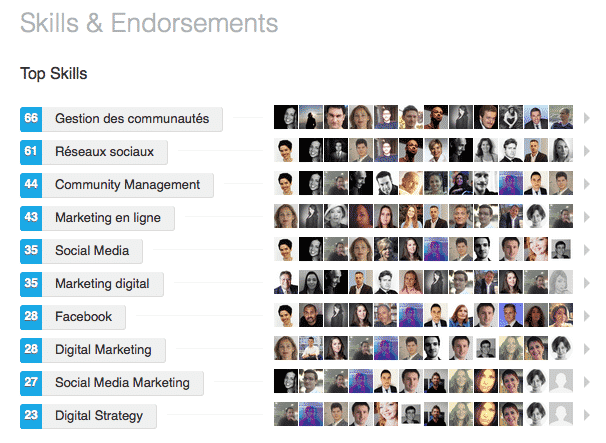 Competences LinkedIn