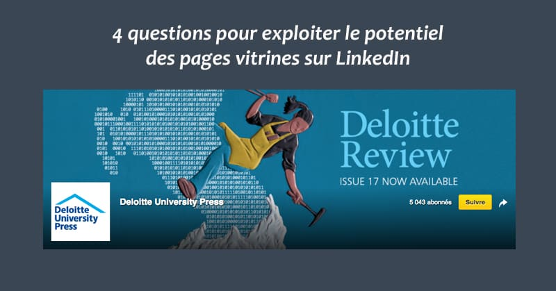 Pages Vitrine Sur LinkedIn