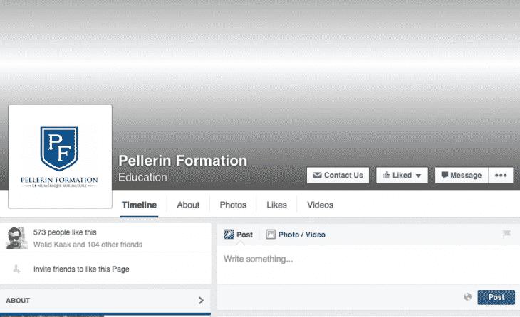 Nouveau design pages Facebook