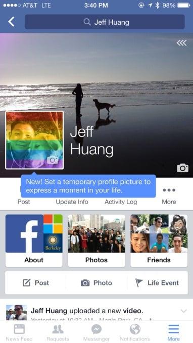 Profil Temporaire Facebook